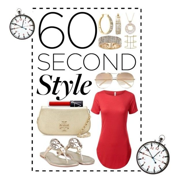 """""""Gone in 60 Seconds 👄"""" by afinediime ❤ liked on Polyvore featuring Ross-Simons, Tory Burch, Chloé, mizuki, tshirtdresses and 60secondstyle"""