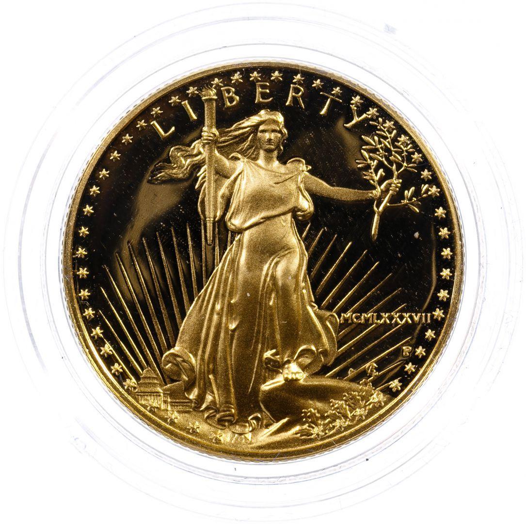 Lot 114 1987 W 25 Gold Proof American Eagle Auction American Eagle Gold Eagle
