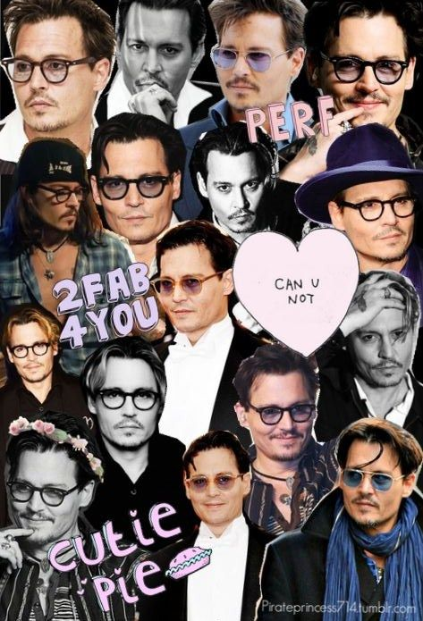 A Collage Of Johnny Depp My Friend Made For Me Johnny Depp Johnny Depp Wallpaper Johnny Depp Movies