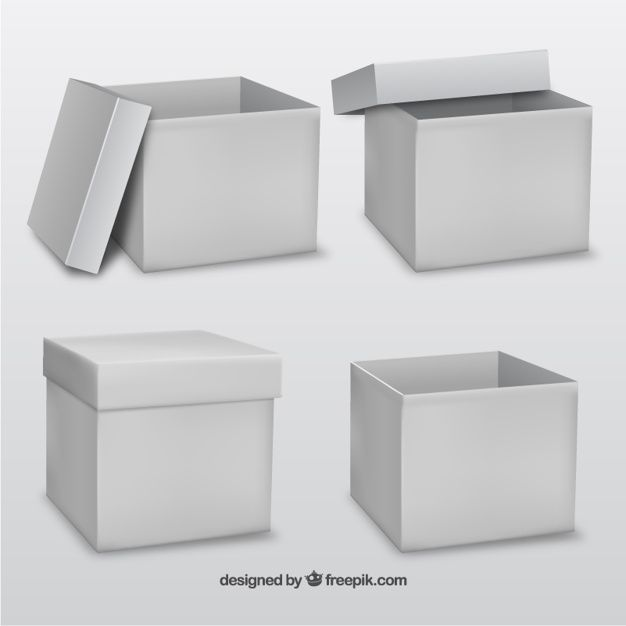 Download White Cardboard Box Mock Up Free Vector Freepik Freevector In 2020 Box Mockup Cardboard Box Box
