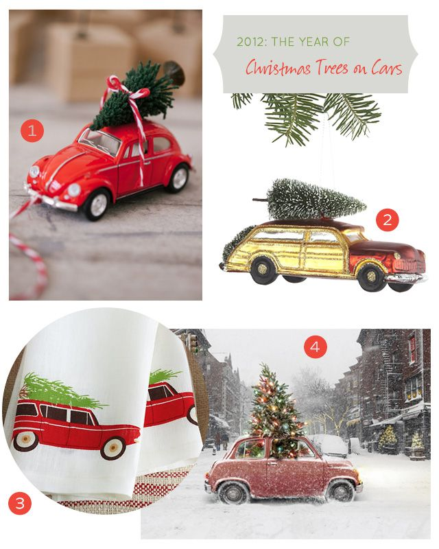 I Found Some Very Old Little Trucks Yesterday To Use For My Christmas Trees On Top Of Them L Vintage Christmas Crafts Christmas Car Miniature Christmas Trees