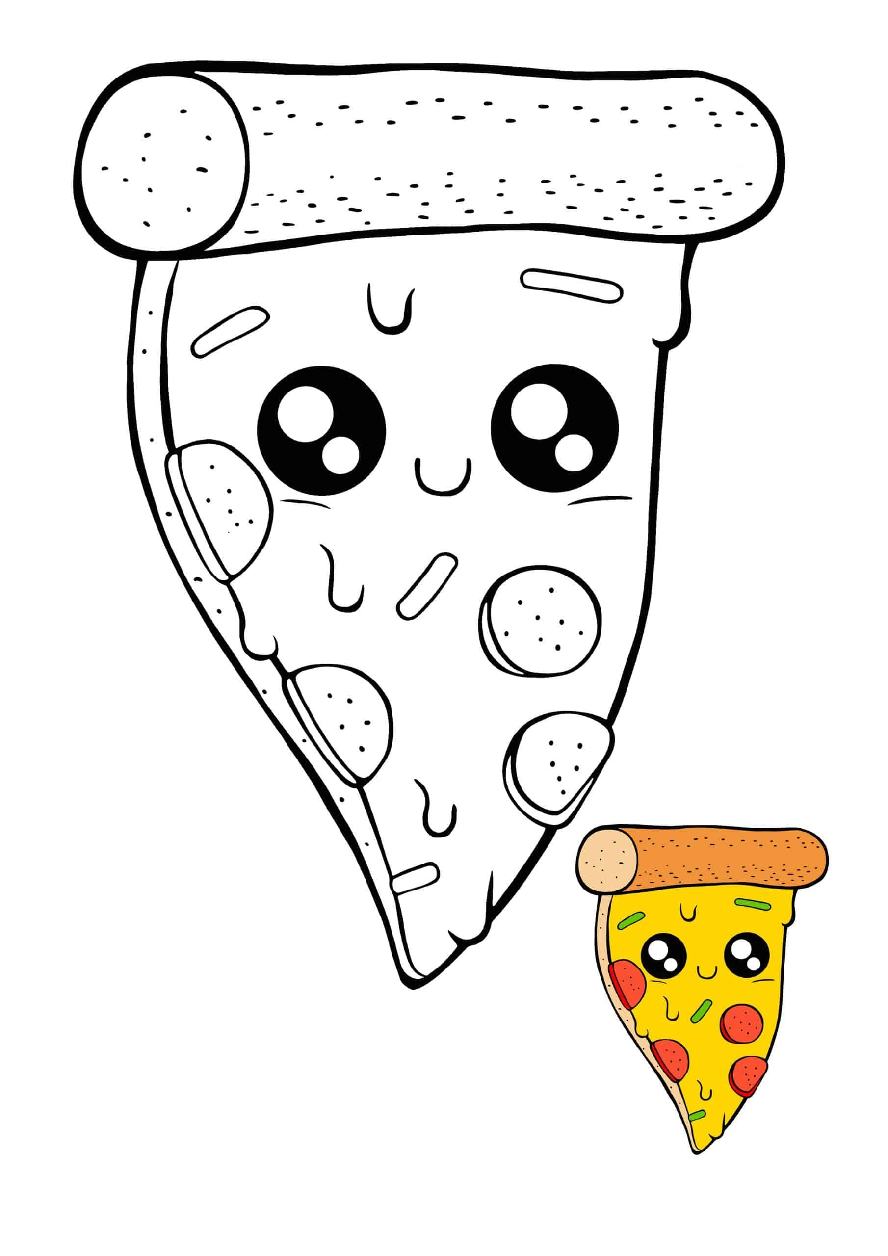 Kawaii Pizza Coloring Sheet Unicorn Coloring Pages Coloring Pages Pizza Coloring Page