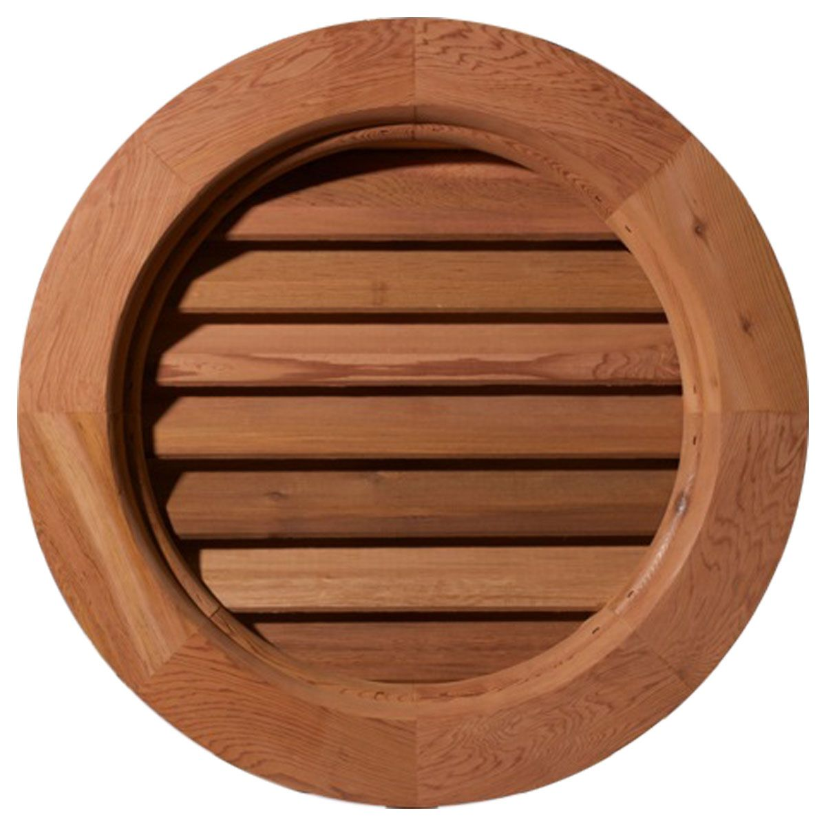 Round wood gable vent woods house accessories and men cave for Window design round