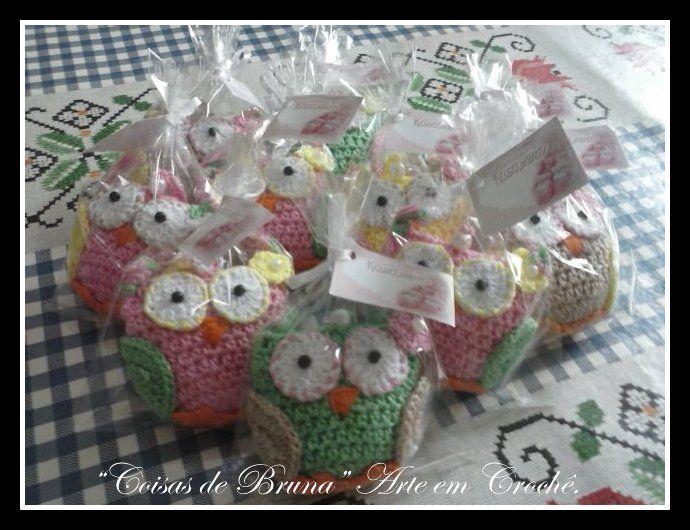 Chaveiros de corujinhas para lembrancinhas de nascimento!