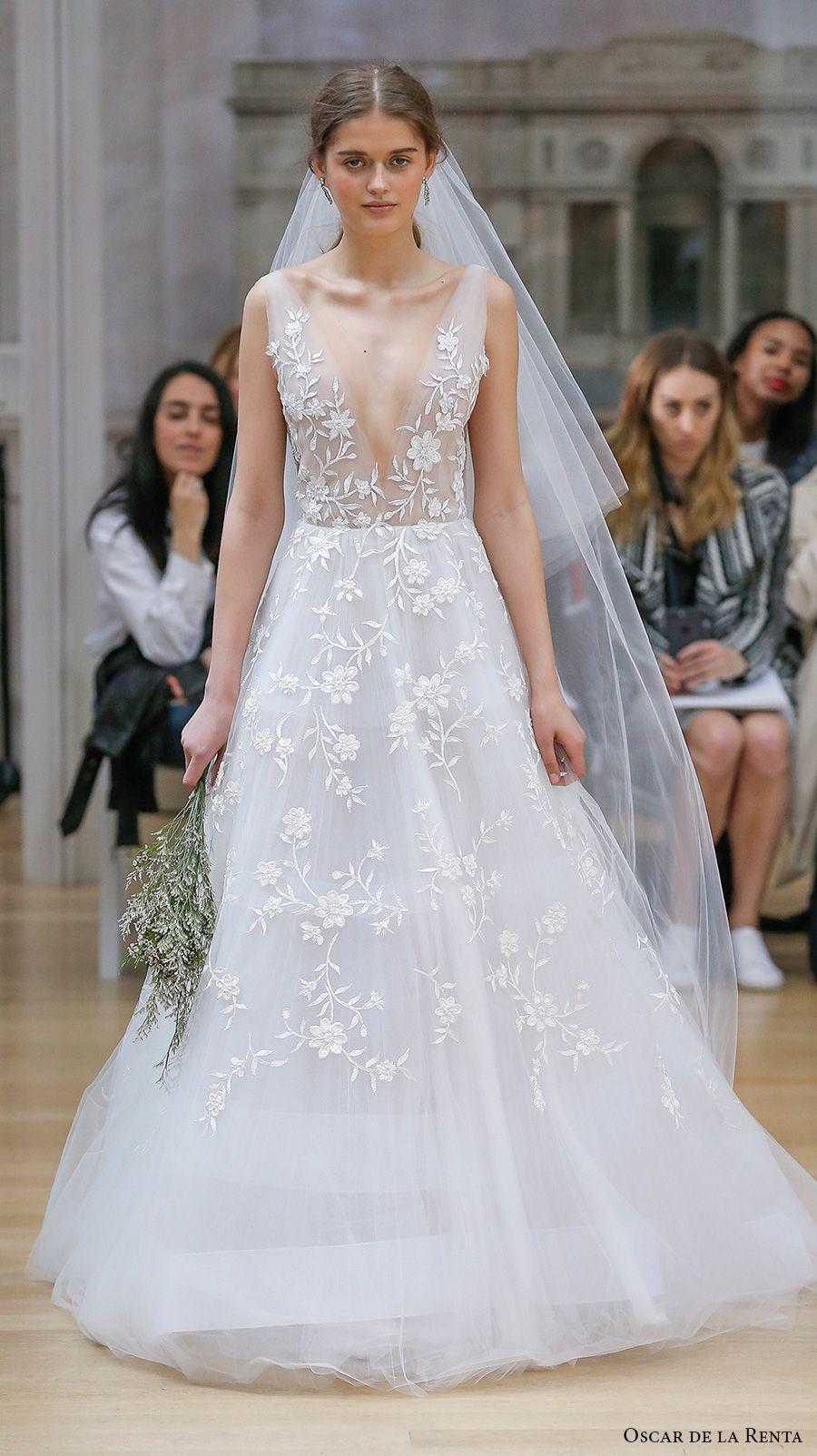 Oscar de la renta spring 2018 wedding dresses new york for De la renta wedding dresses