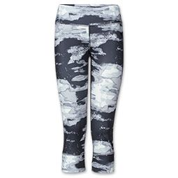 women's the north face tadasana crop leggings  printed