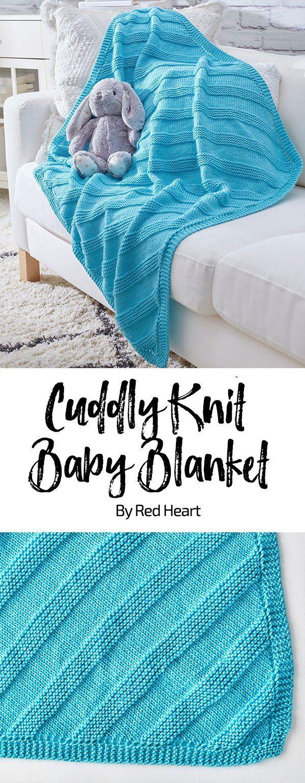 Cuddly Knit Baby Blanket free knit pattern in Soft