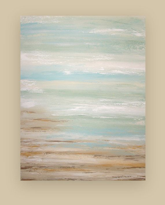 Shabby Chic Art Original Acrylic Abstract Beach Painting Led A Dream Of Summer 4 30x40x1 5 By Ora Birenbaum And Acrylics