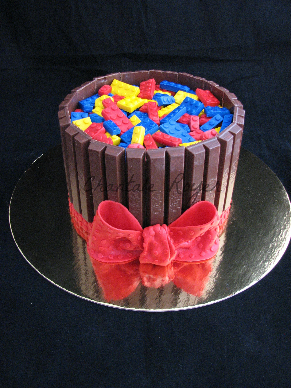 Kit Kat Lego Cake Gateau Birthday Party Cakes Ideas