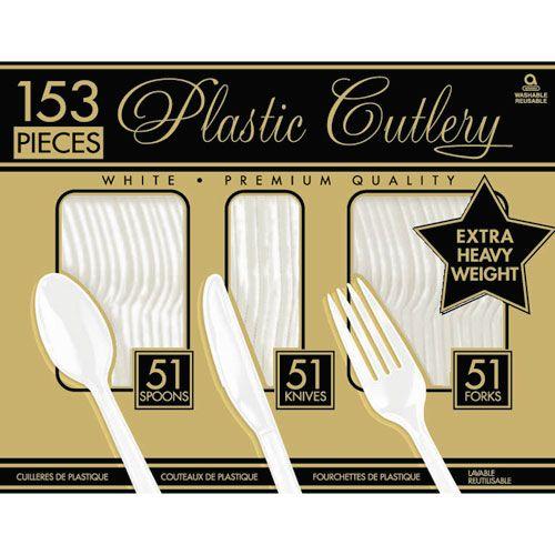 Frosty White Heavy Weight Cutlery Set