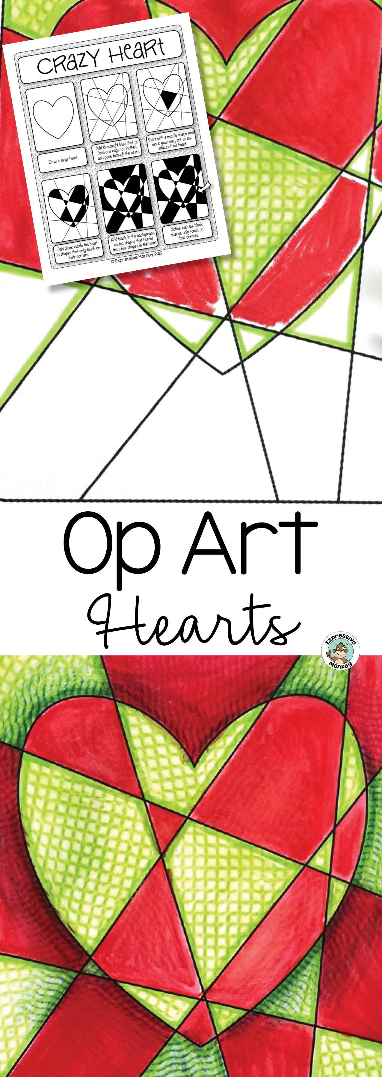 Art Lesson Op Art Hearts