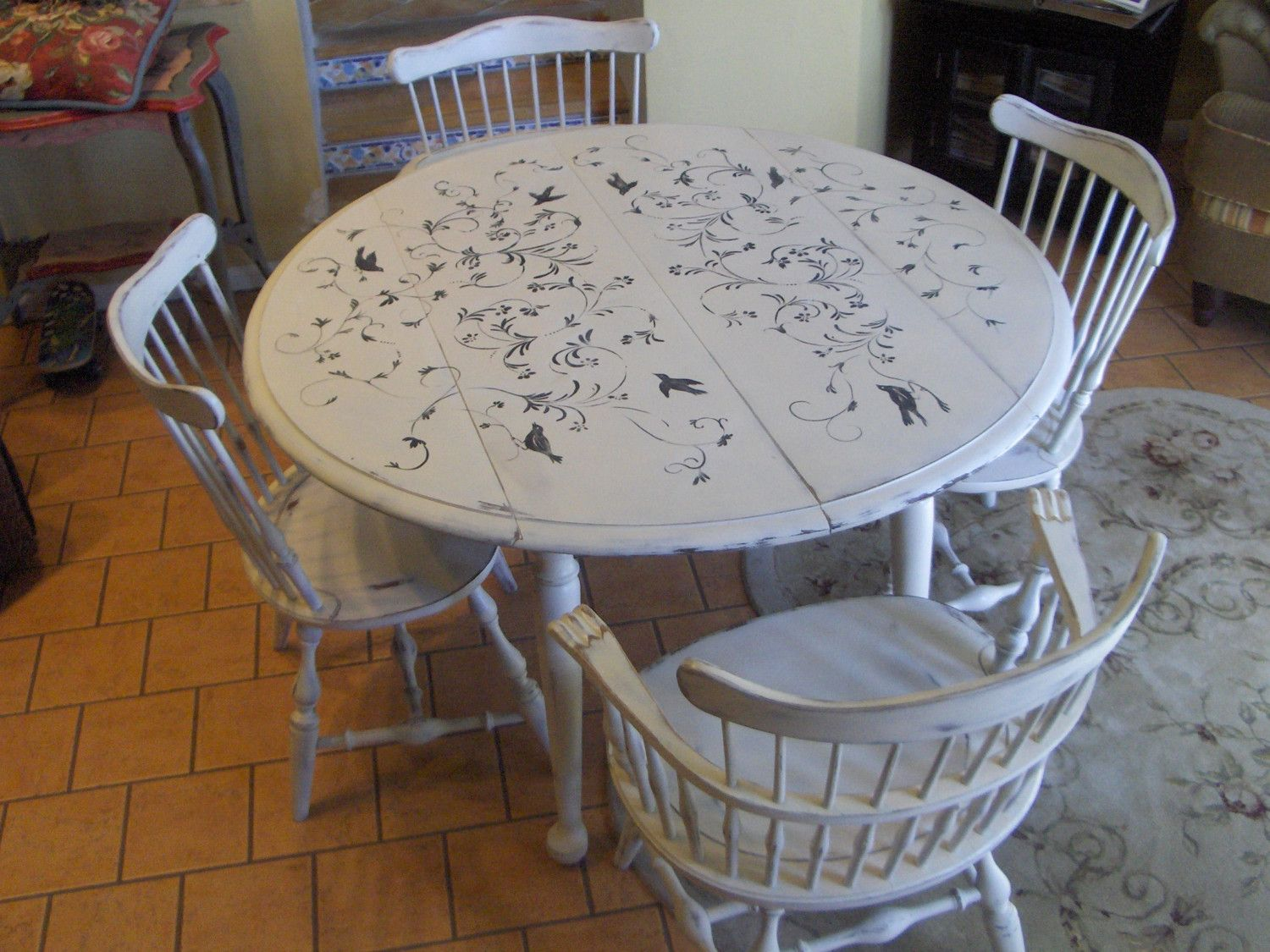 Pin By Debra Wise On Furniture Painted Dining Table Furniture Rehab Wooden Kitchen Table