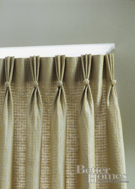 3 Pinch Pleats With Covered Button Detail Curtains