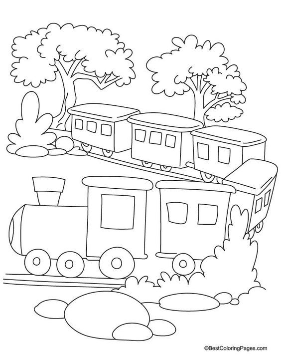Train coloring page 2 | Download Free Train coloring page 2 for kids ...