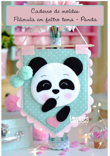 Flamula De Feltro Panda Passo A Passo Molde Gratis Trabalhos