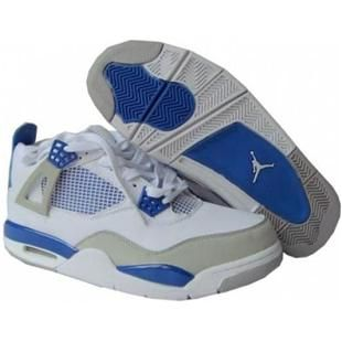 competitive price 661e7 d3bba www.asneakers4u.com 308498 141 Air Jordan 4 retro (gs) off white military  blue neutral grey A24012