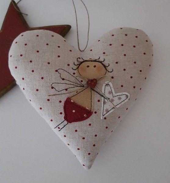 """Herz """"Engel""""- Weihnachten- Landhaus von Feinerlei auf DaWanda.com"""