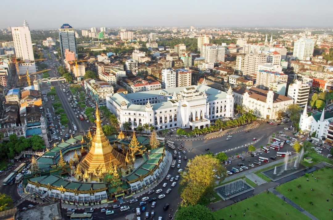 Good Morning From Heart Of Yangon Sule Pagoda Is Situated In The Central Downtown Of Yangon It Is One Of The Ancient Pagodas Of Myanmar