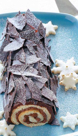 Buche De Noel Au Chocolat Esta Preparacion Es Una De Las Mas