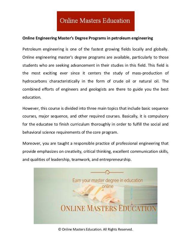 Online Engineering Master S Degree Programs Online Engineering