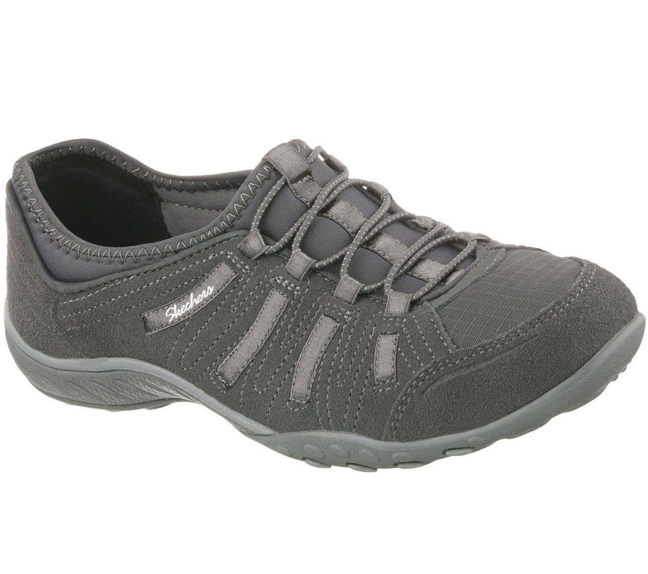 217bcbcc26ca 22478 Charcoal Skechers Shoe Memory Foam Women Comfort Casual Slip On Suede  Mesh