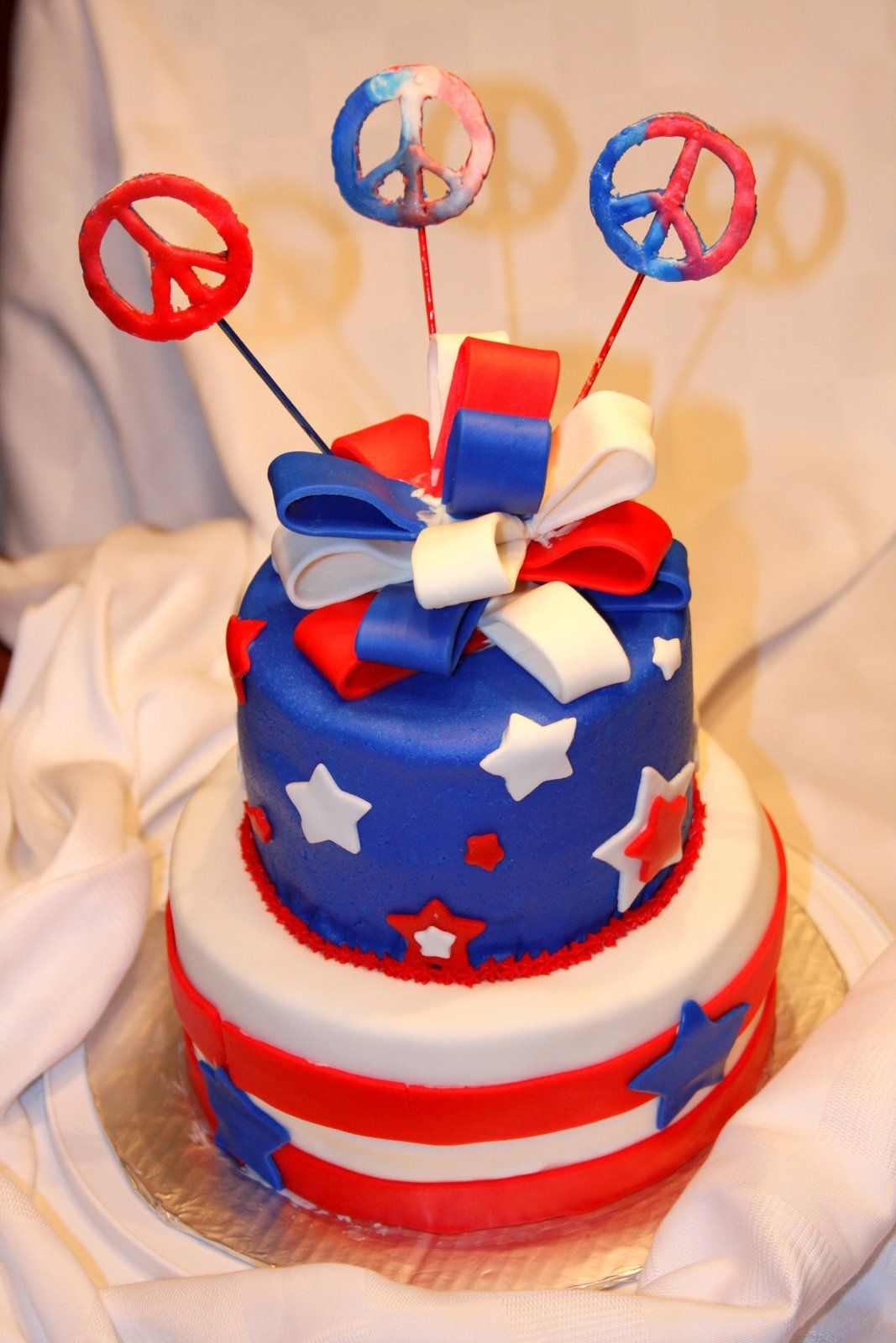 Fondant 4th Of July Cakes Google Search Fourth Of July