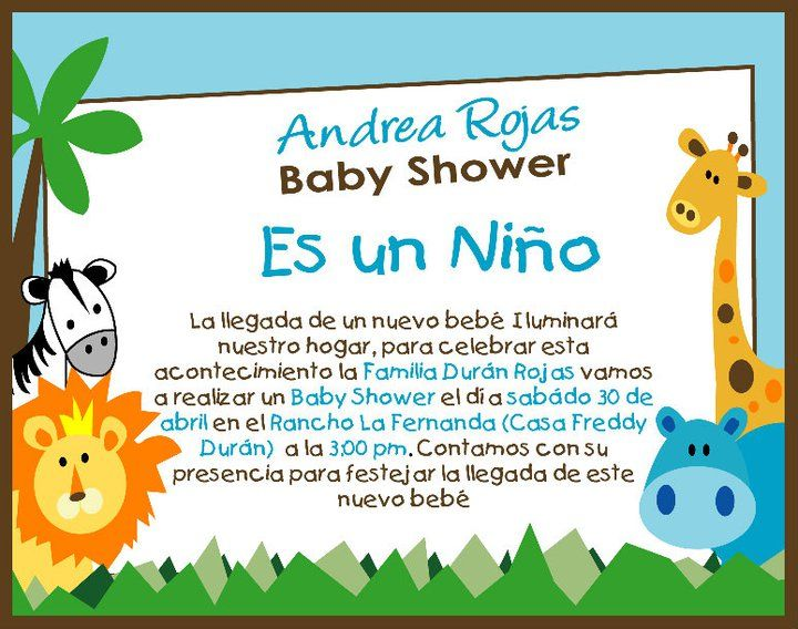 Invitaciones Baby Shower Niño ~ Invitaciones animalitos babyshower hombre