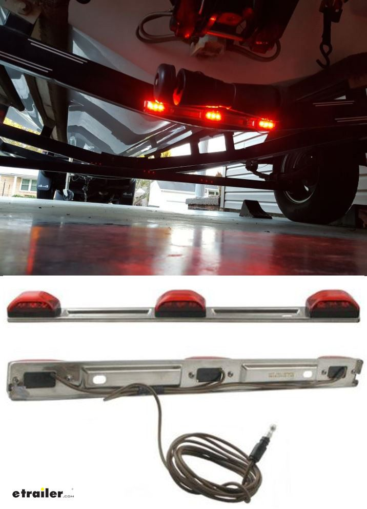 Truck and trailer identification light bar led submersible 9 truck and trailer identification light bar led submersible 9 diode red lens pinterest boat trailer aloadofball Image collections