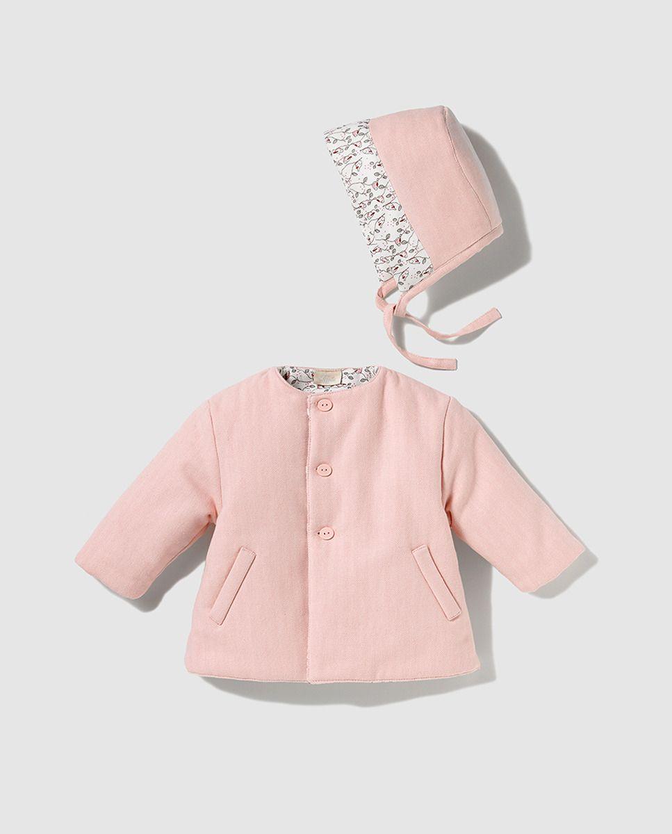 Abrigo de micropana de bebé niña Tizzas reversible