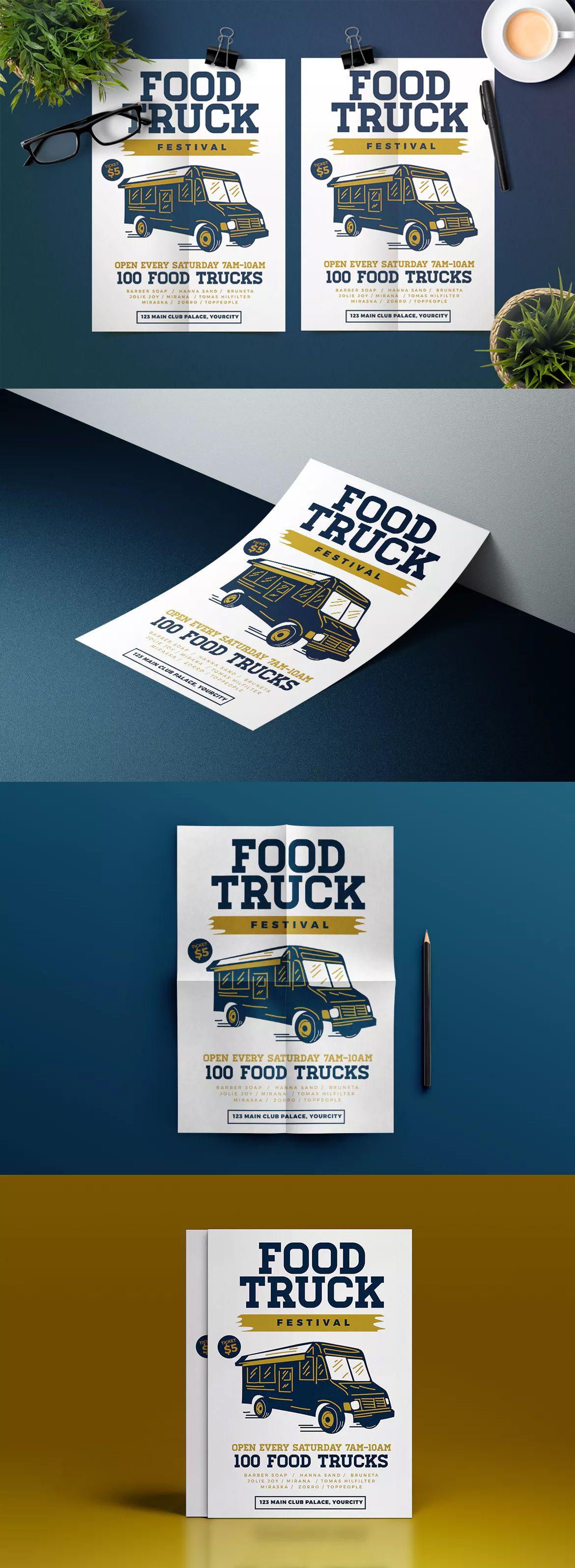 Food Truck Flyer Template AI PSD Unlimiteddownloads Food Flyer - Food truck flyer template