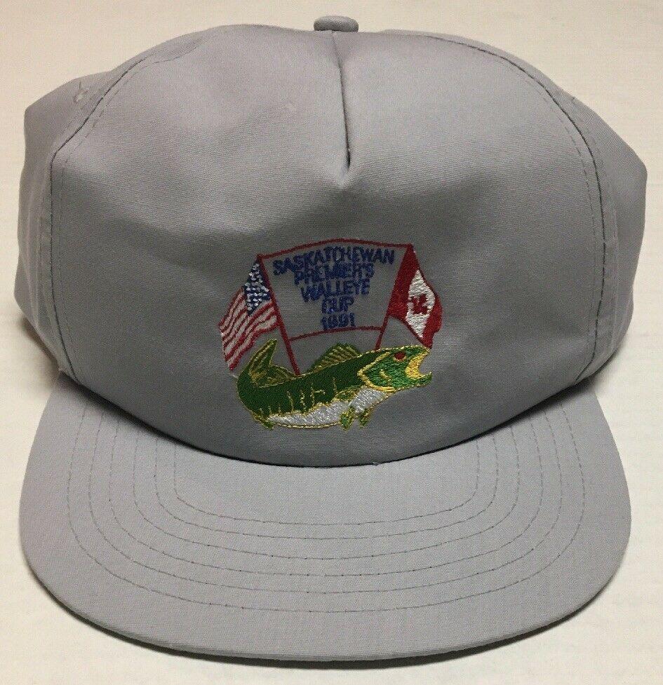 aba2838594c173 Vtg Saskatchewan Premiers Walleye Cup Hat 1991 Canada Fishing Tournament  Cap 90s #BaseballCap