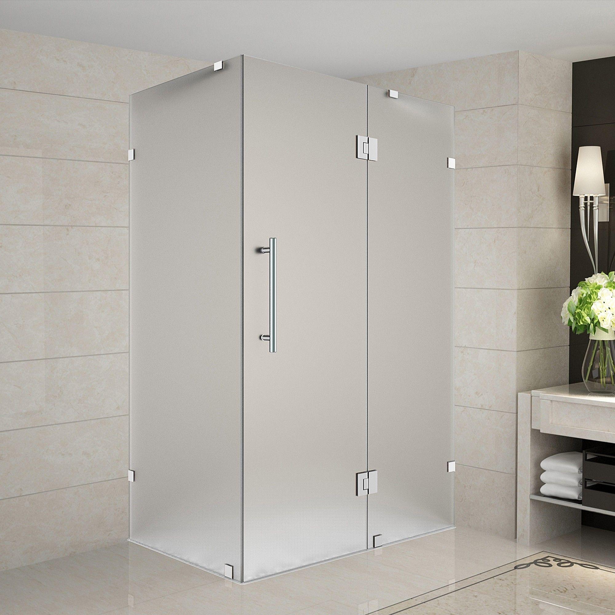 Avalux 36 X 36 X 72 Completely Frameless Hinged Shower