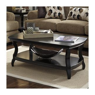 Tellbane Coffee Table.Rectangular Coffee Table Living Room Basics Black Coffee Tables