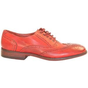 Ashley Dip Dyed Red Leather Oxford Lace Up Shoes