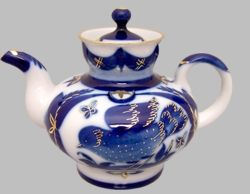 """Goldfinch"" Russian Porcelain Teapot"