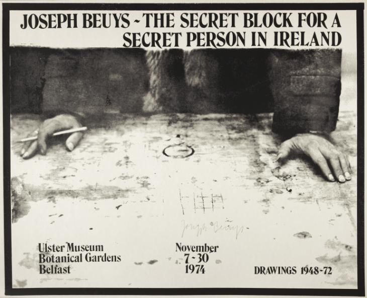 Joseph Beuys, 'Joseph Beuys: The Secret BLock for a Secret Person in Ireland. Ulster Museum Botanical Gardens Belfast' 1974
