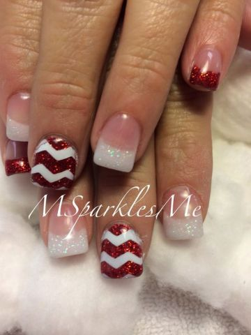23 Winter French Tip Nail Designs French Tip Nail Designs Christmas Nails Christmas Nails Acrylic