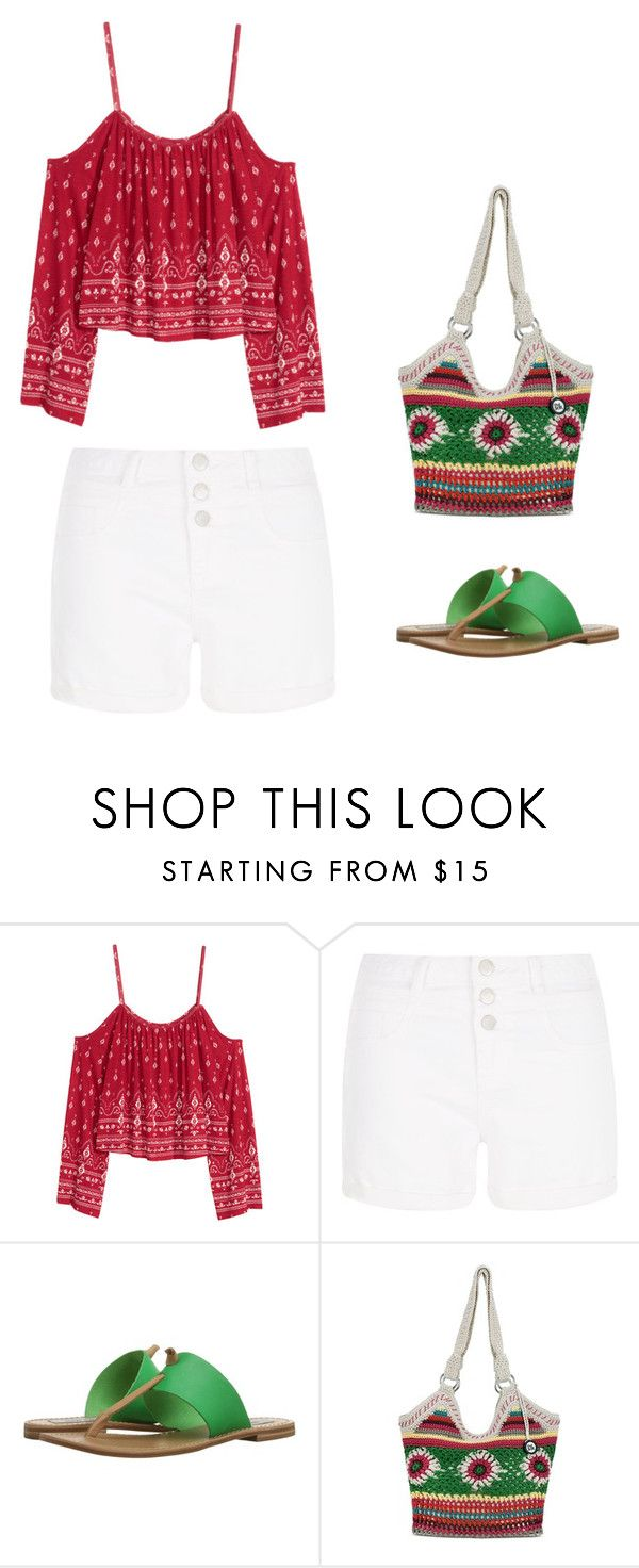 """""""Untitled #128"""" by rosemaryburton ❤ liked on Polyvore featuring New Look, Steve Madden and The Sak"""
