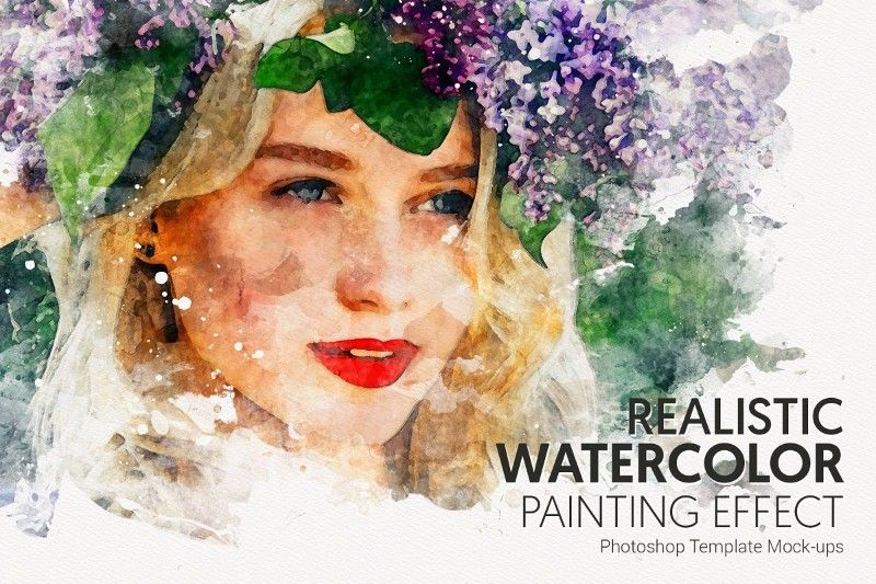 25 Watercolor Photoshop Actions For Painting Effect Photoshop