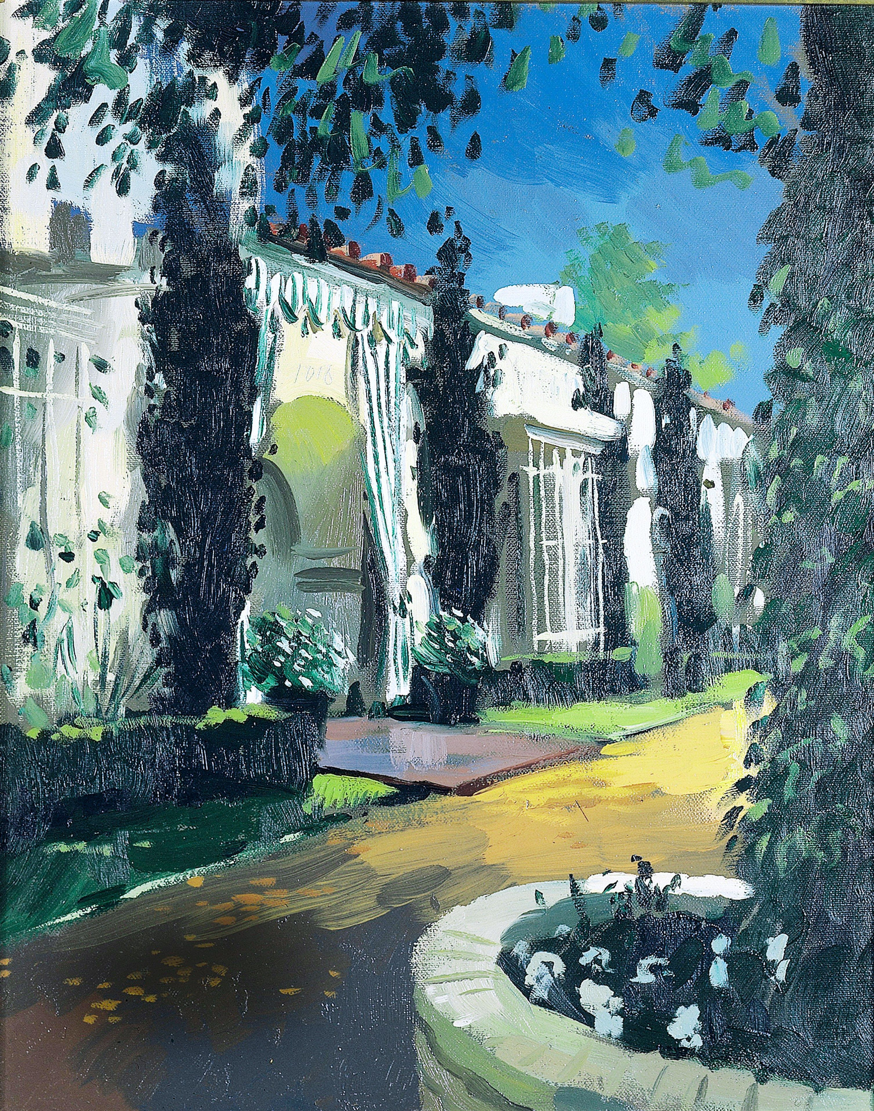 Decorator Elsie de Wolfe Took L.A. by Storm in the 1940s Photos | Architectural Digest. A painting by Julian La Trobe of After All, the Beverly Hills, California, house where decorator Elsie de Wolfe and her husband, Sir Charles Mendl, settled in the 1940s. The couple became Hollywood's preeminent hosts.