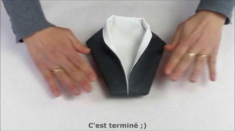 Pliage de serviette en forme de smoking