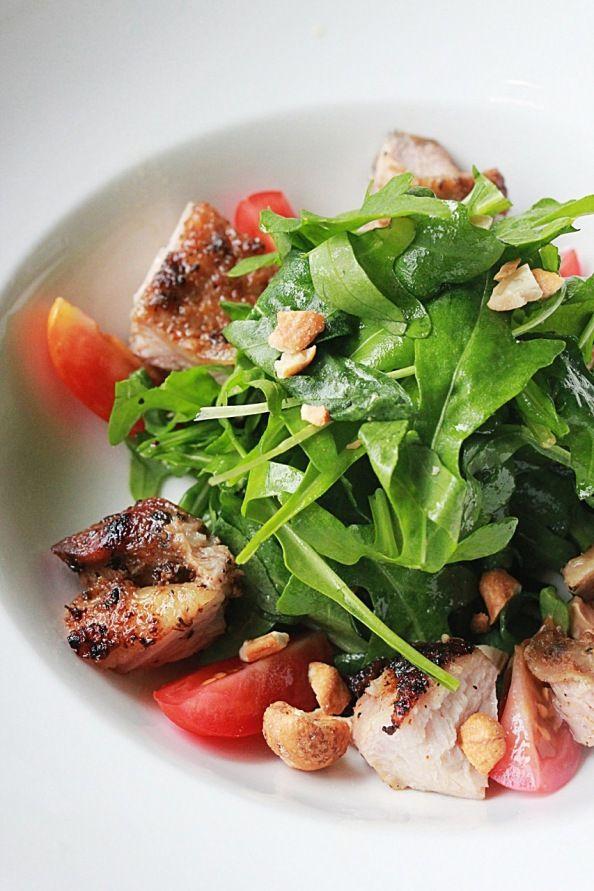 Cajun Chicken Salad,...las castañas de caju deberían de ser mas incorporadas en la cocina, cambian en un 360º una simple ensalada, por ejemplo,....