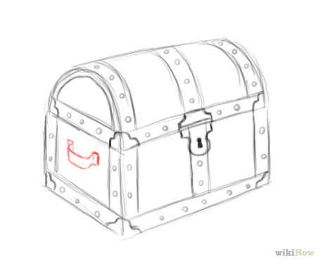 How to draw a treasure chest. Broken down into simple
