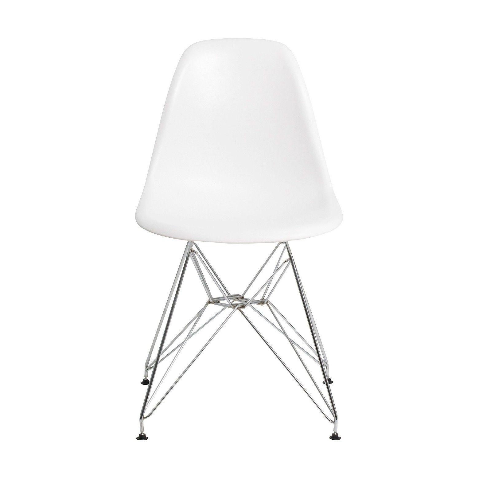 Set Of 2 Paris Molded Plastic Chair White Aeon Molded Plastic Chairs Plastic Chair Molded Chair