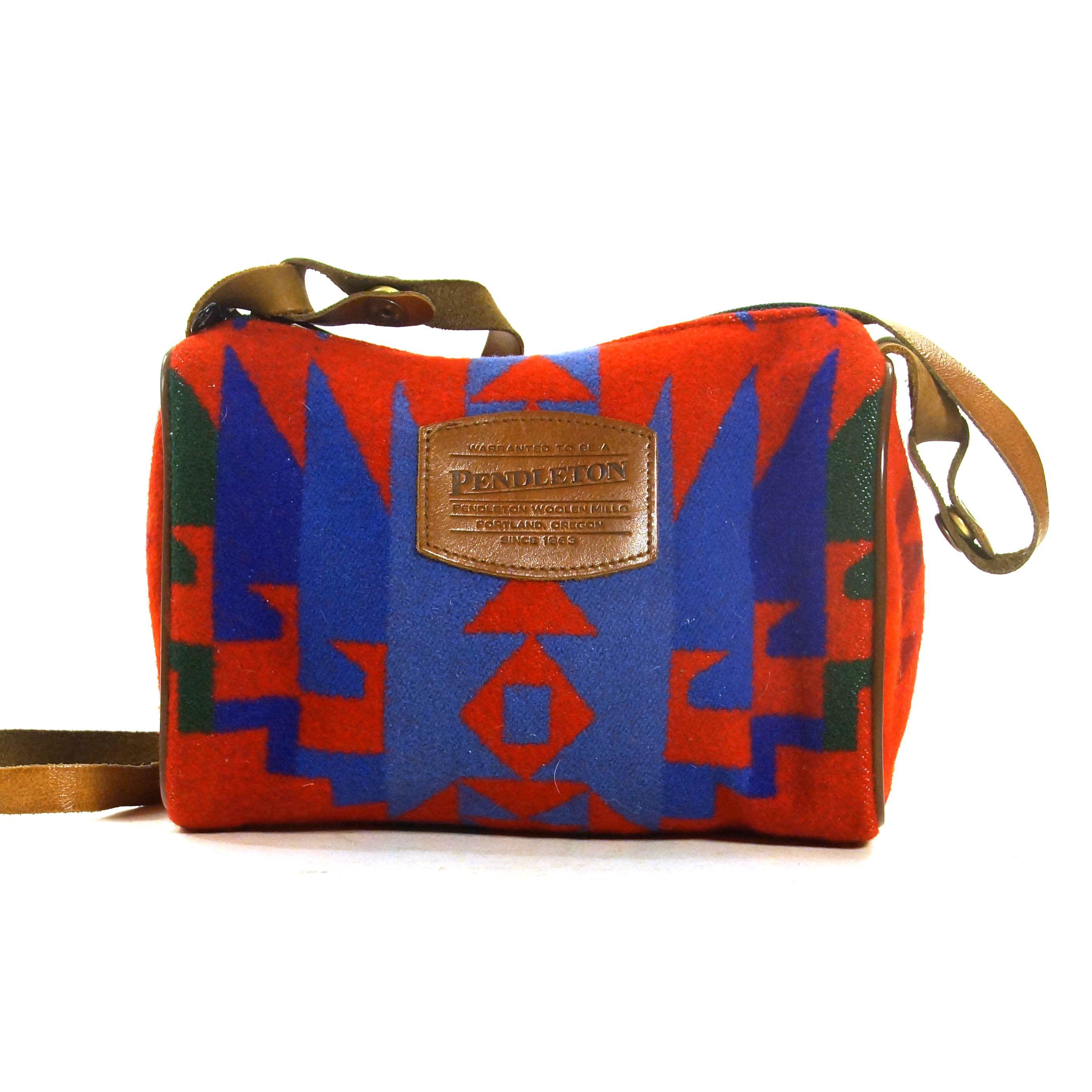 Southwest Tapestry Design Sturdy Cotton Shoulder Strap Zipper Closure Purse