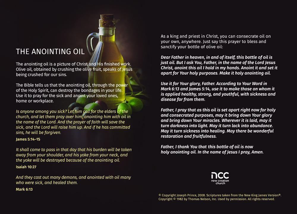 Anointing oil prayer in 2020 Anointing oil prayer