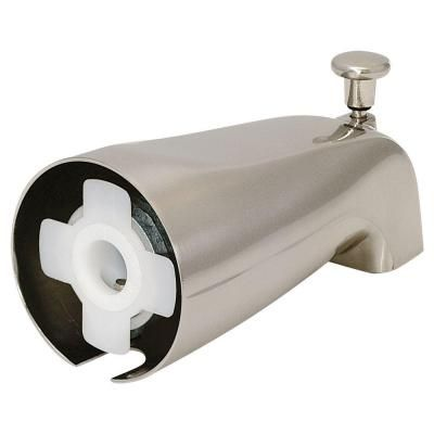 Ez Flo Slide On Diverter Spout Brushed Nickel Brushed Nickel