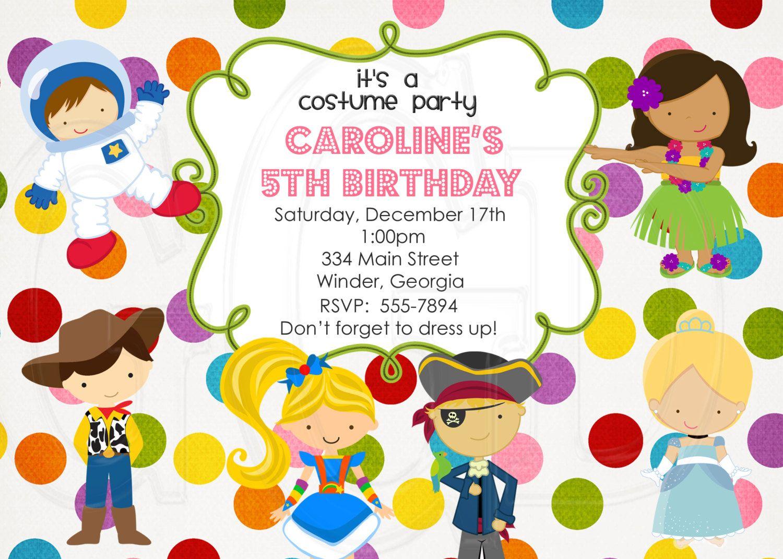 Costume Party theme, costume, Costume Party Invitation, dress up ...