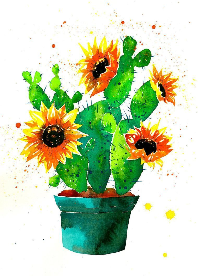 Cactus And Sunflower Wallpaper   3D Wallpapers #sunflowerwallpaper Cactus And Sunflower Wallpaper   3D Wallpapers #sunflowerwallpaper