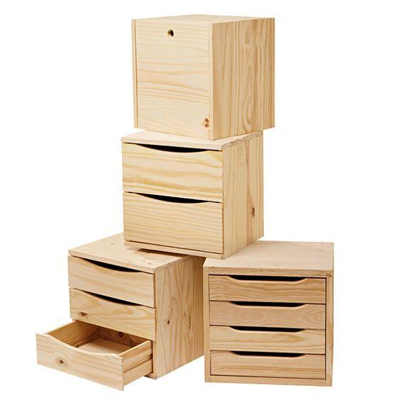 meuble bois meuble tiroir plastique